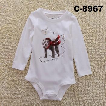 C-8967: Baby Long Sleeve Short Romper --   16/1