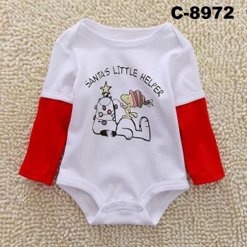 C-8972: Baby Long Sleeve Short Romper -- 16/1
