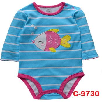 C-9730: Baby Long Sleeve Short Romper --  17/1