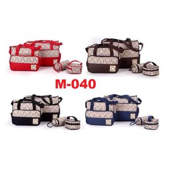 M-040: 5 in 1 Mummy Diaper Bag - 34