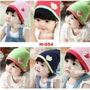 H-054: Baby Cotton Cartoon Chick Affixed Cloth Hat -- 18/1 (R)