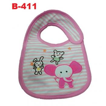 B-411: Cute Embroidery Baby Bib -- 29/1