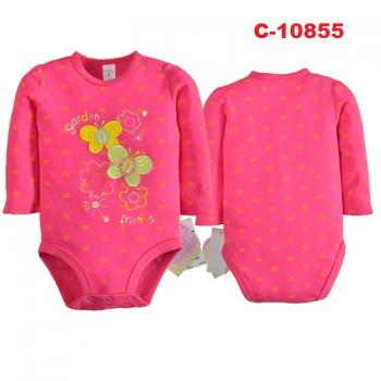 C-10855: Baby Long Sleeve Short Romper --  21/2 (R)