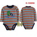 C-10858: Baby Long Sleeve Short Romper --  G