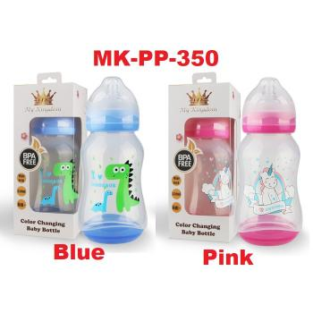 MK-PP-350: My Kingdom Color Changing Baby Bottle 350ml 6m+ (R)