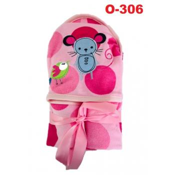 O-306: Baby Hooded Towel (R ) --    40
