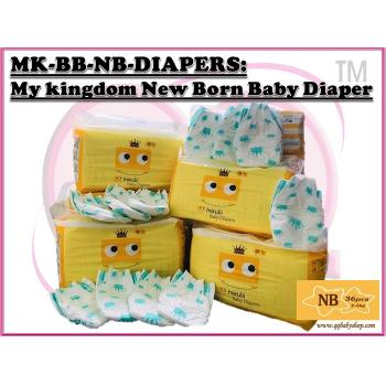MK-BB-NB-DIAPERS: My kingdom New Born (36pcs) Baby Diaper ( **Not Selling to East Malaysia **)