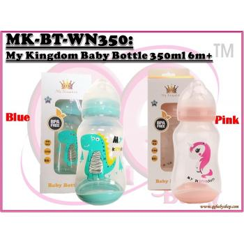 MK-BT-WN350: My Kingdom Wide Neck Baby Bottle 350ml 6m+ (R)-- A26-1(G), A26-3(P)