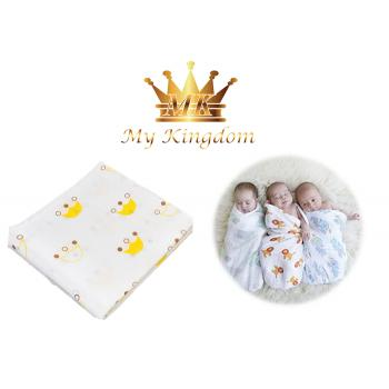 MK-SWDBLKT18-CROWN - Muslin Swaddle Blanket (R)