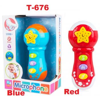 T-676: Baby Music Microphone With Starlight Projector -- 3/1