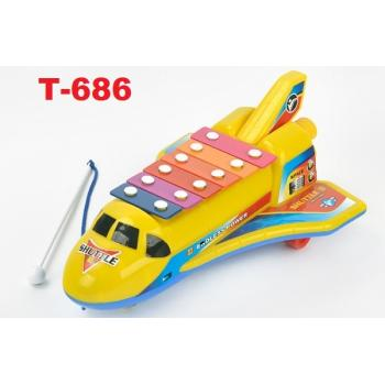 T-686: Xylophone Space Shuttle Music Maker -- 4/3