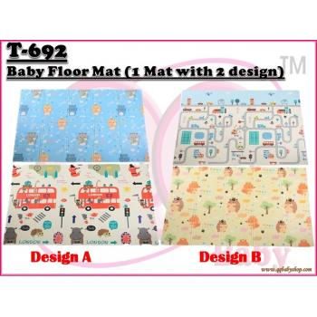 T-692: Baby Floor Mat (1 Mat with 2 design) - (W/M'Sia Free Postage, E/M'Sia postage fees RM30)