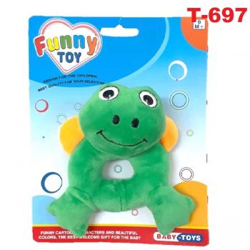 T-697:: Baby Animals Hand Rattles - Frog -- F