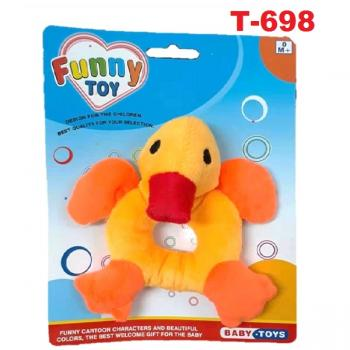 T-698: Baby Animals Hand Rattles - Duck -- 8/1