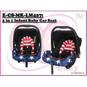 E-CS-MK-LM427:  3 in 1 Infant Baby Car Seat ( **W/M'Sia Free Postage, E/M'Sia postage fees RM60**)