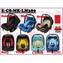 E-CS-MK-LM389: Stylish 3 in 1 Infant Baby Car Seat ( **W/M'Sia postage RM10 E/M'Sia postage fees RM60** )