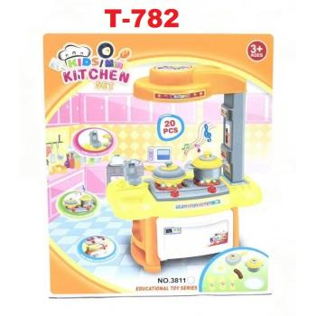 T-782: Kids Kitchen Cooking Playset -- T13