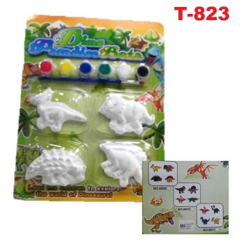 T-823: DIY Painted Toys Plaster Dinosaur Doll (Non Choose Design) -- T17-1