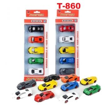 T-860: Toys Car Sport Car Series Pack of 5 (Non Choose Design) -- 2nd FL