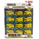 T-885: Toys Construction Truck Series Pack of 12 -- RT35-1