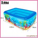 T-894:Inflatable Kids Pool ( L130cm X W90cm X H48cm ) (1.3)(Random Design)