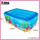 T-895:Inflatable Kids Pool (L150CM X W110CM X H50CM) (1.5)(Random Design)