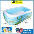 T-949:Inflatable Kids Pool (L305CM X W183CM X H75CM)  (3.05)