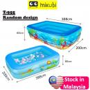 T-955:Inflatable Kids Pool (L388CM X W200CM X H60CM)  (3.88)